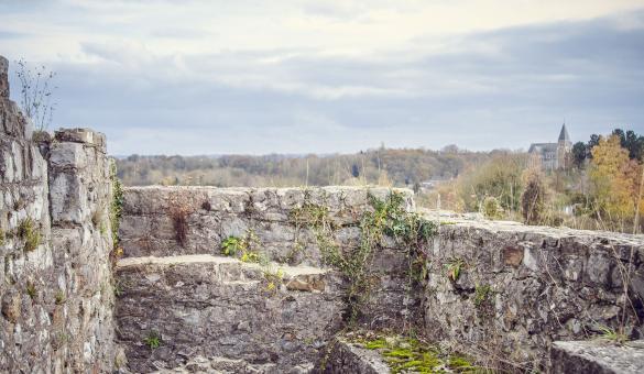 Château - Moha - éperon rocheux - vestiges - féodal