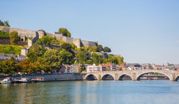 Vue sur la Citadelle de Namur