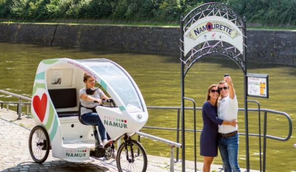 Quai des Joghiers - Velo Pousse-pousse - Citadelle de Namur