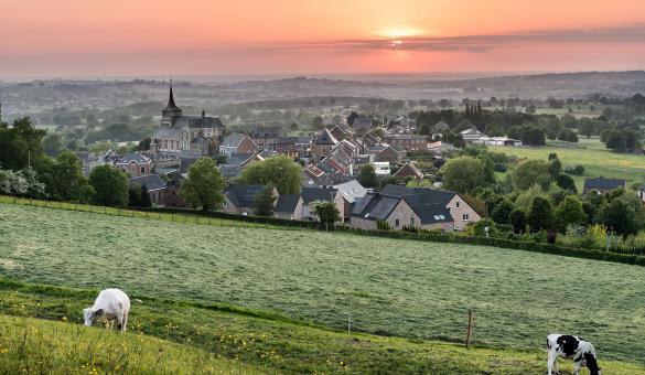 Plus beaux villages de Wallonie - Clermont - Soleil couchant