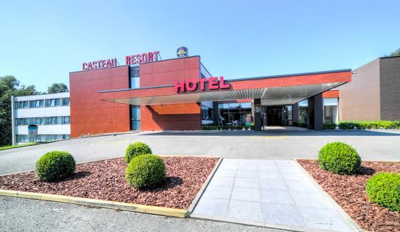 L'entrée de l'Hotel & Aparthotel Casteau Resort Mons