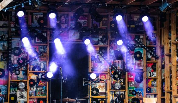 Festival - stage - light - decoration