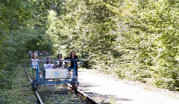 Draisines - Molignée - rails - railbike