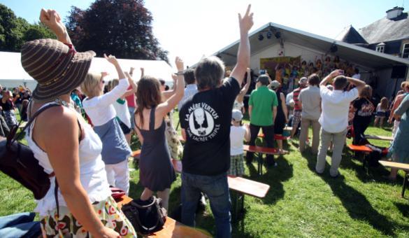 Gaume Jazz Festival au coeur de la Gaume dans le parc bucolique de Rossignol