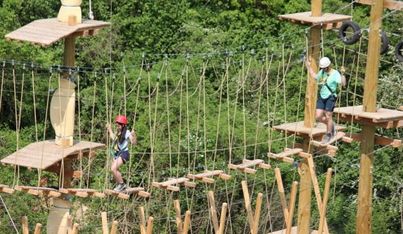 Tree top trail at the Adventure Valley Durbuy park