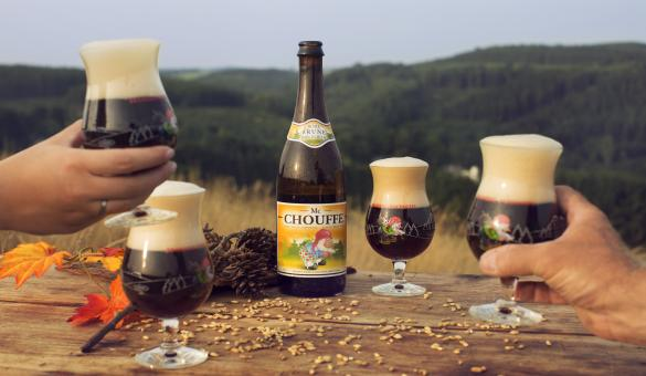 The Achouffe Brewery beers in the Vallée des Fées in Houffalize, Luxembourg