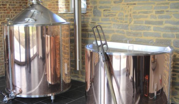 Découvrez les cuves de la Micro-brasserie de l'Abbaye de Villers-la-Ville