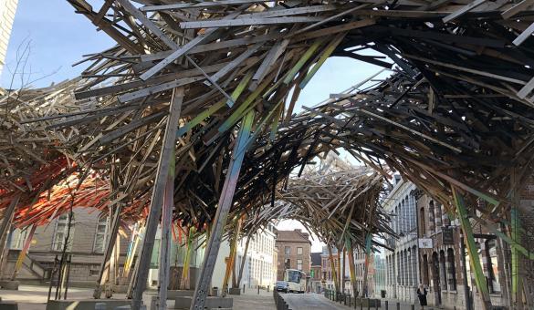 Mons - The Passenger - Structure - bois - Arne Quinze