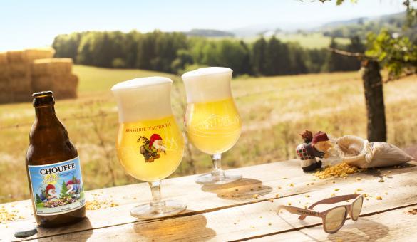 Chouffe soleil beer of the Achouffe Brewery