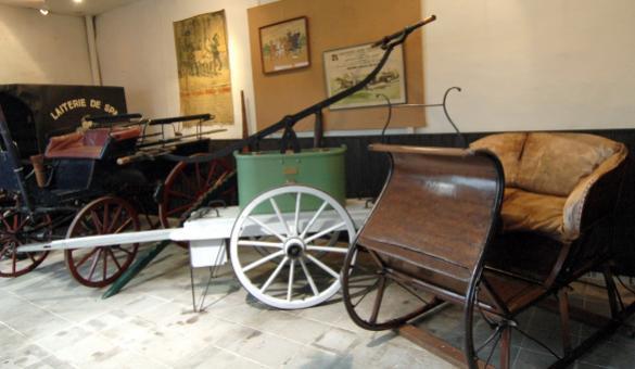 Divers attelages au Musée du Cheval de Spa