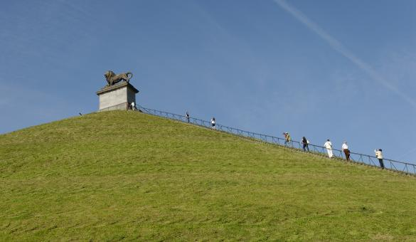 Discover the Lion's Mound, a historical monument commemorating the battle of Waterloo