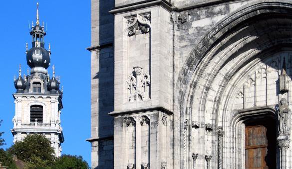 Mons - Le Beffroi - patrimoine mondial UNESCO - Sainte-Waudru
