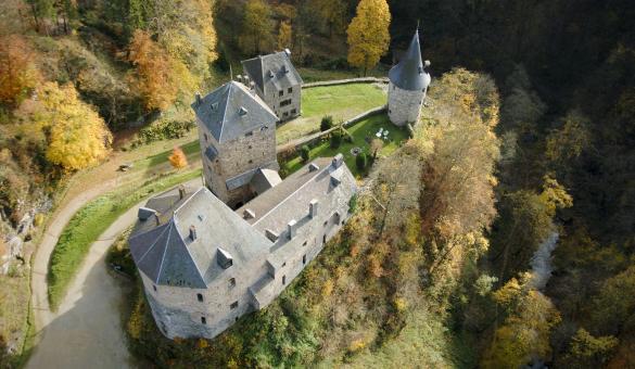 Château de Reinhardstein - photo aérienne