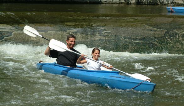 Kayaking down the Lesse