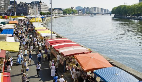 Découvrez le Marché de la Batte à Liège, le plus grand et le plus ancien marché de Belgique