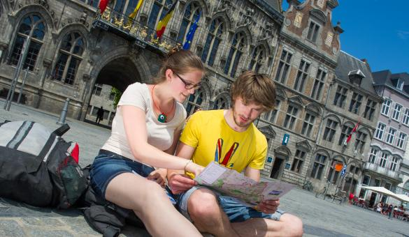 A look at the Grand-Place in Mons, capital of the Hainaut province