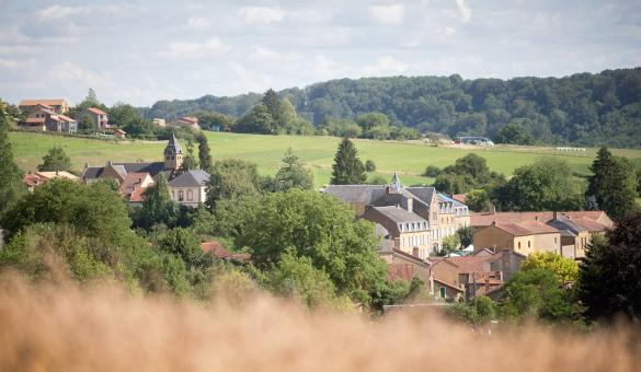 Splendide paysage du village de Torgny