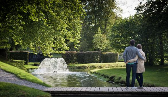 Take a stroll through the Gardens of Annevoie, the only water gardens in Belgium