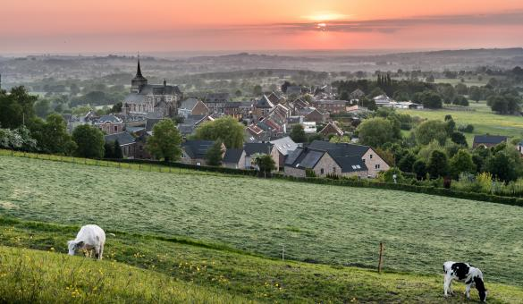 Superb sunset on the commune of Thimister-Clermont