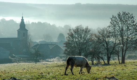 Zicht op Membach (Baelen) in het Pays de Vesdre