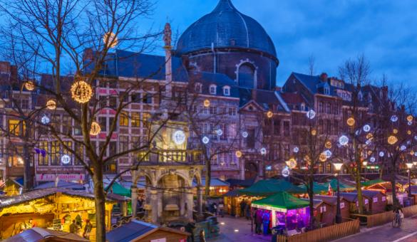 Take a stroll through Liege's Christmas market, the largest and oldest in Belgium