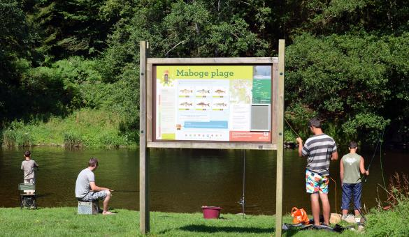 Maboge-Plage - baignade - Ourthe - Roche-en-Ardenne