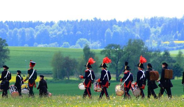 Marche folklorique - reconstitution Napoléonienne