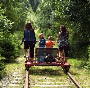 draisine - rail bike - Leykaul - Hautes fagnes