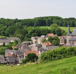 Zicht op Soiron, in de provincie Luik. Een van de mooiste dorpen van Wallonië