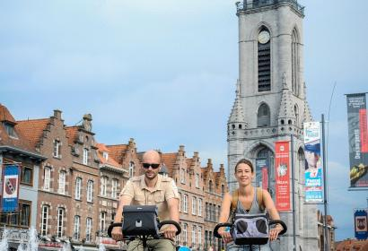 Tournai - Grand place - Randonnée - Vélo