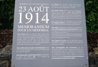 Memorial - victimes - civiles - Dinant – 1914