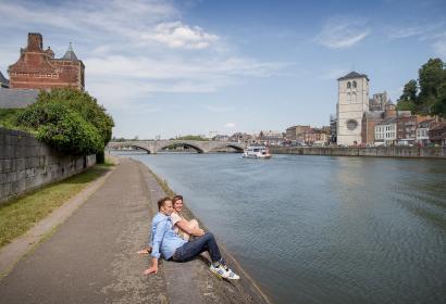 Huy - Vue de la Meuse - Wallonie terre d'eau