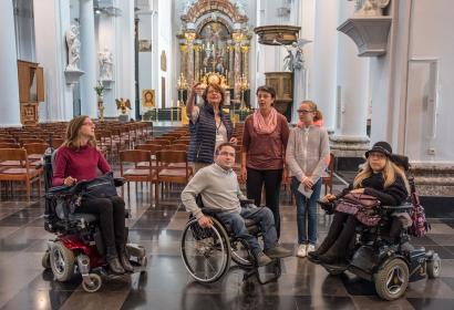 ACCESS-i - collégiale - St Barthélémy - personnes à mobilité réduite - PMR