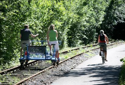 Balade - vélo - nature - Wallonie - Falaen - Draisines de la Molignee - Ravel