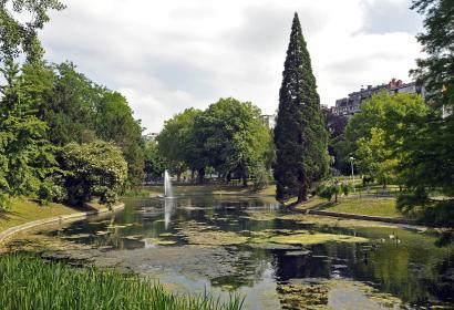 Parc d'Avroy - parc paysager - public - centre-ville - ancien bras de Meuse - rivière d'Avroy