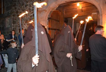 Procession des pénitents noirs à Lessines