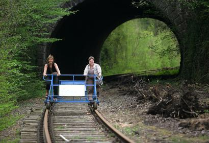 draisines de la Molignée - vélorail - Falaën - Warnant- rail-bikes - Wallonie insolite