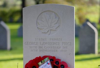 Tombe - Soldat - George Lawrence Price - première guerre mondiale