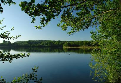 Lac de Bambois à Fosses-la-Ville, vue sur le lac