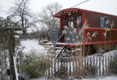 La roulotte de Nanou - chambre d'hôtes - Fernelmont - escapade - nature - insolite