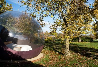 Gîte - le chant des étoiles - Spa - vue panoramique - bulle