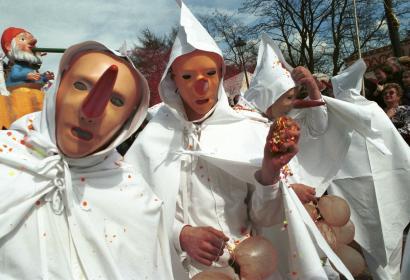 Carnevale dei Blancs-Moussis (Laetare di Stavelot) - Provincia di Liegi (Vallonia)