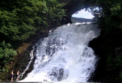 Admirez la magnifique chute d'eau au parc à gibier Wild Park Coo à Stavelot
