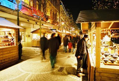 Liège - Marché de Noël - échoppe - nuit