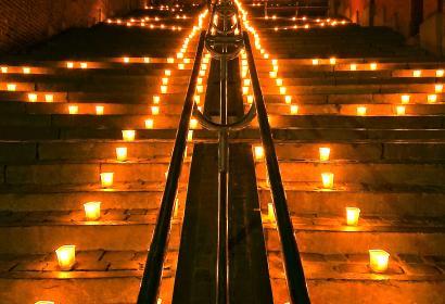 Liège illuminée - Nocturne des Coteaux - Citadelle- montagne de Bueren