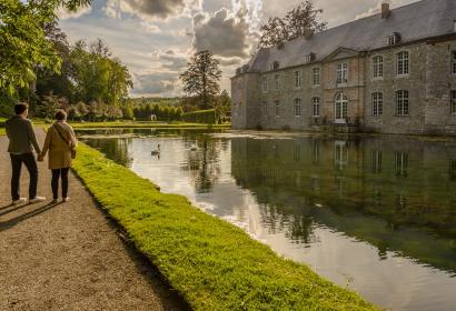 Passeggiare nei giardini del Castello di Annevoie - Provincia di Namur (Vallonia)