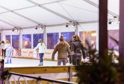 Pista di pattinaggio al mercatino di Natale di Namur