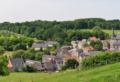 Vue sur Soiron, dans la province de Liège. Un des Plus Beaux Villages de Wallonie