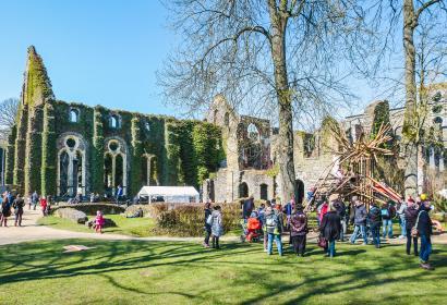 Venez découvrir l'Abbaye de Villers-la-Ville et ses ruines, dans le Brabant Wallon