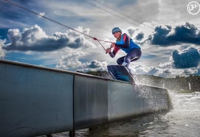"""Venez profiter du téléski nautique des Lacs de l'Eau d'Heure, """"The Spin cablepark"""""""